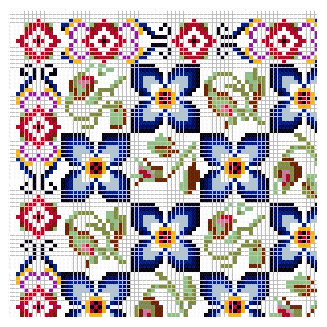 open_house_miniatures_wool_carpet_paula_rose_pattern_corner.jpg (640×640)