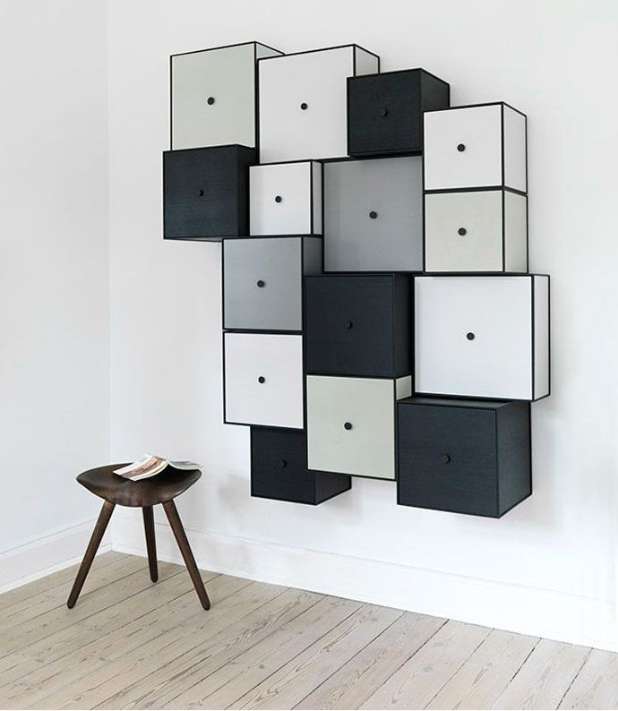 combinaison rangement mural frame 42 de by lassen decoration etagere rangement storage. Black Bedroom Furniture Sets. Home Design Ideas