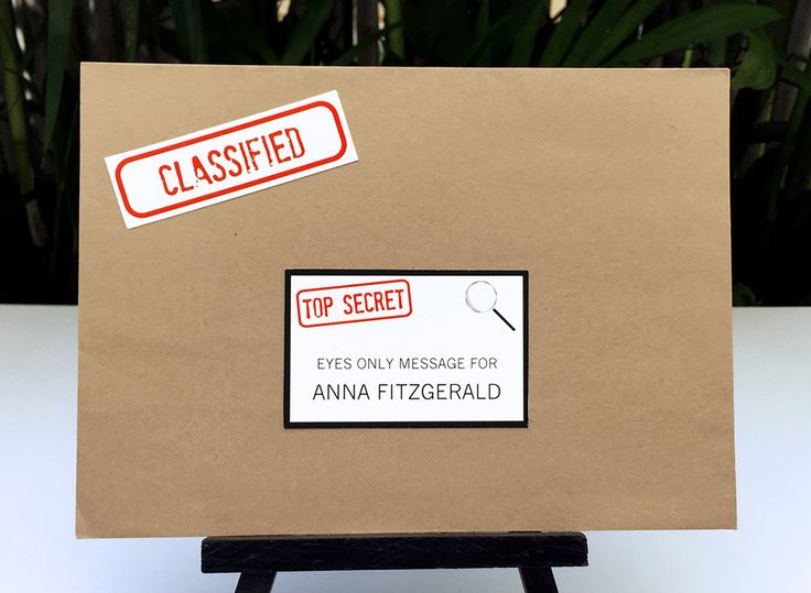 Spy Party or Secret Agent Party Address Labels | Top Secret Labels | INSTANT DOWNLOAD via SIMONEmadeit.com
