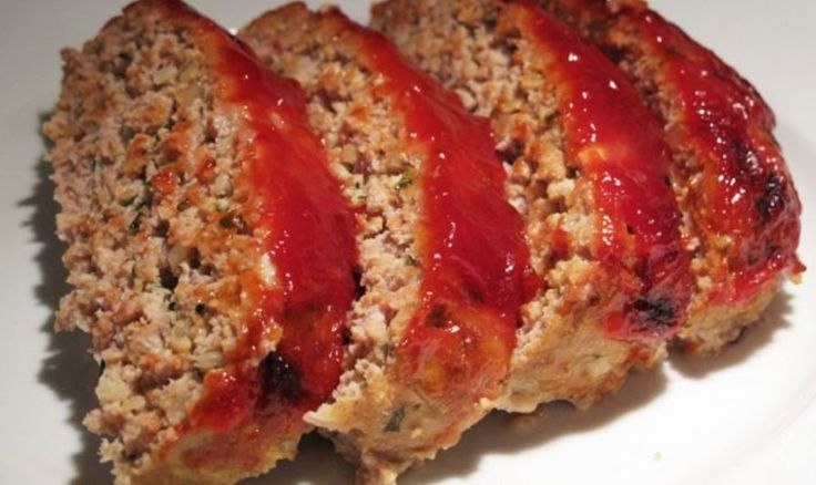 Skinny Meatloaf – Weight Watchers.......Makes 10 slices(2 slices preserving) Smart Points = 6 Points plus = 5
