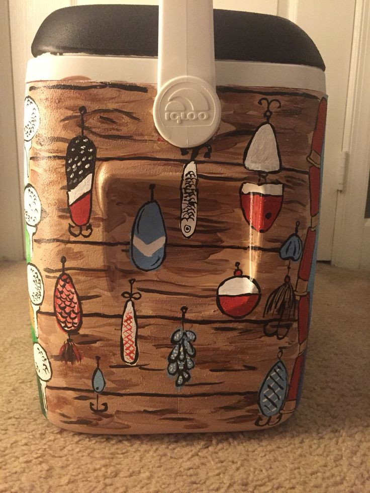 Cooler painting #fishing #coolerconnection #fraternity