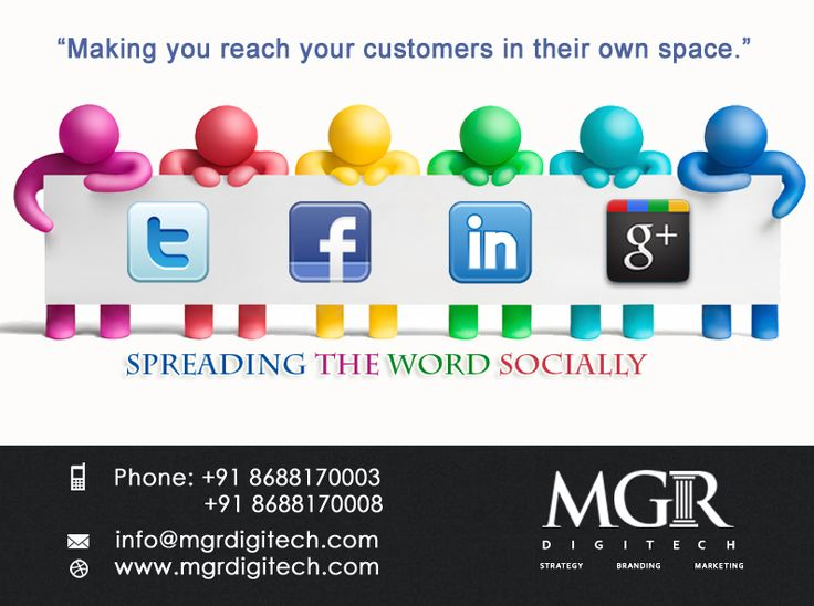 """Social Media Marketing : """"Making you reach your customers in their own space."""" MGR DIGITECH Helps Grow Your Business Rapidly with More Followers and Social Engagement and Increased Sales. For more details Contact us today : Contact: Phone: +91 8688170003 +91 8688170008 Email-Id:info@mgrdigitech.com Website:www.mgrdigitech.com #MGR, #MGRDigitech, #Digital, #OnlineSales, #DigitalSolutions, #SocialMediaMarketing"""