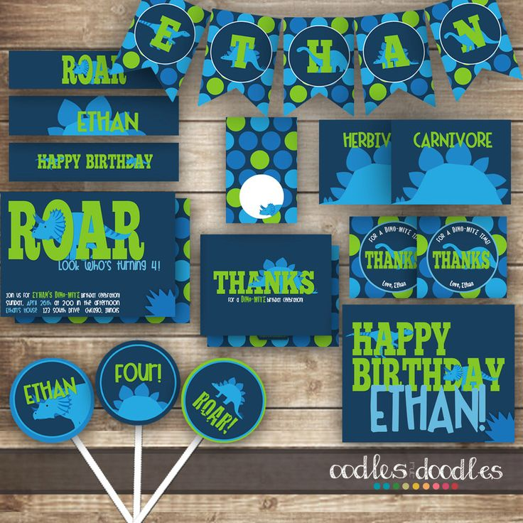 Dinosaur Birthday Party, Dinosaur Party Package, Dinosaur Party Printables, Dinosaur Decorations, Dino Party, Navy, Turquoise, Lime Green by OandD on Etsy https://www.etsy.com/listing/222349234/dinosaur-birthday-party-dinosaur-party