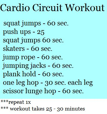 Best At Home Workouts: Cardio circuit workout