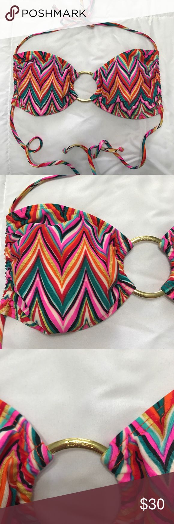 Luli Fama chevron bikini top sz S Gently loved gorgeous top!💕 in excellent condition Luli Fama Swim Bikinis