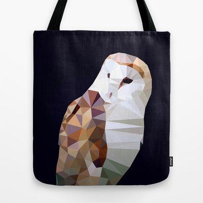 Barn Owl Tote Bag by Matěj Kašpar Jirásek - $22.00