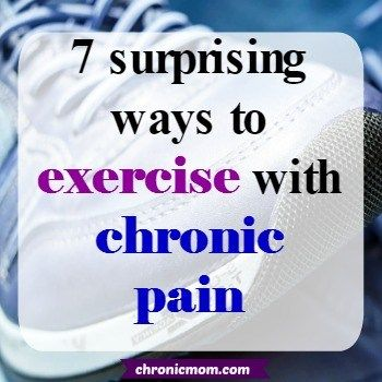 When you live with chronic pain or Fibromyalgia all you hear is exercise exercise exercise.