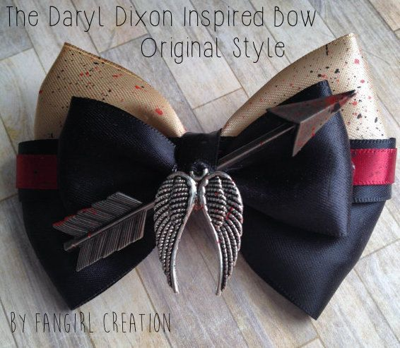 The Daryl Dixon Inspired Bow by FangirlCreation on Etsy