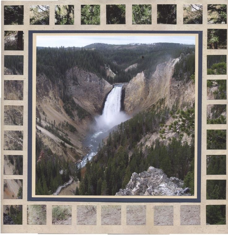 yellowstone Road Trip scrapbook end Page Ideas | Grand Canyon of Yellowstone