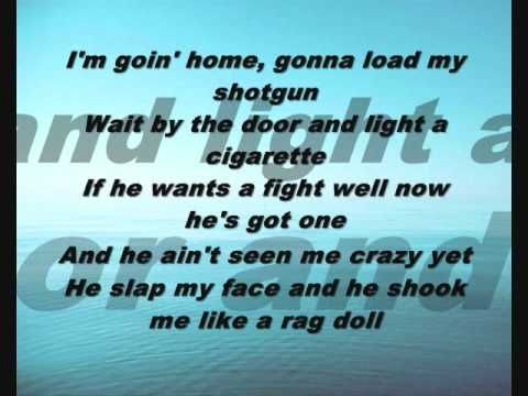 Miranda Lambert- Gunpowder And Lead (With lyrics)  Cried the 1st time I heard this song. Like someone had been watching my life. Exactly how I felt & what I wanted to do.
