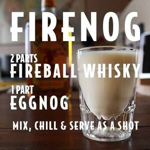 "Firenog @FireballWhisky #fireball #recipes www.LiquorList.com ""The Marketplace for Adults with Taste"" @LiquorListcom #LiquorList"