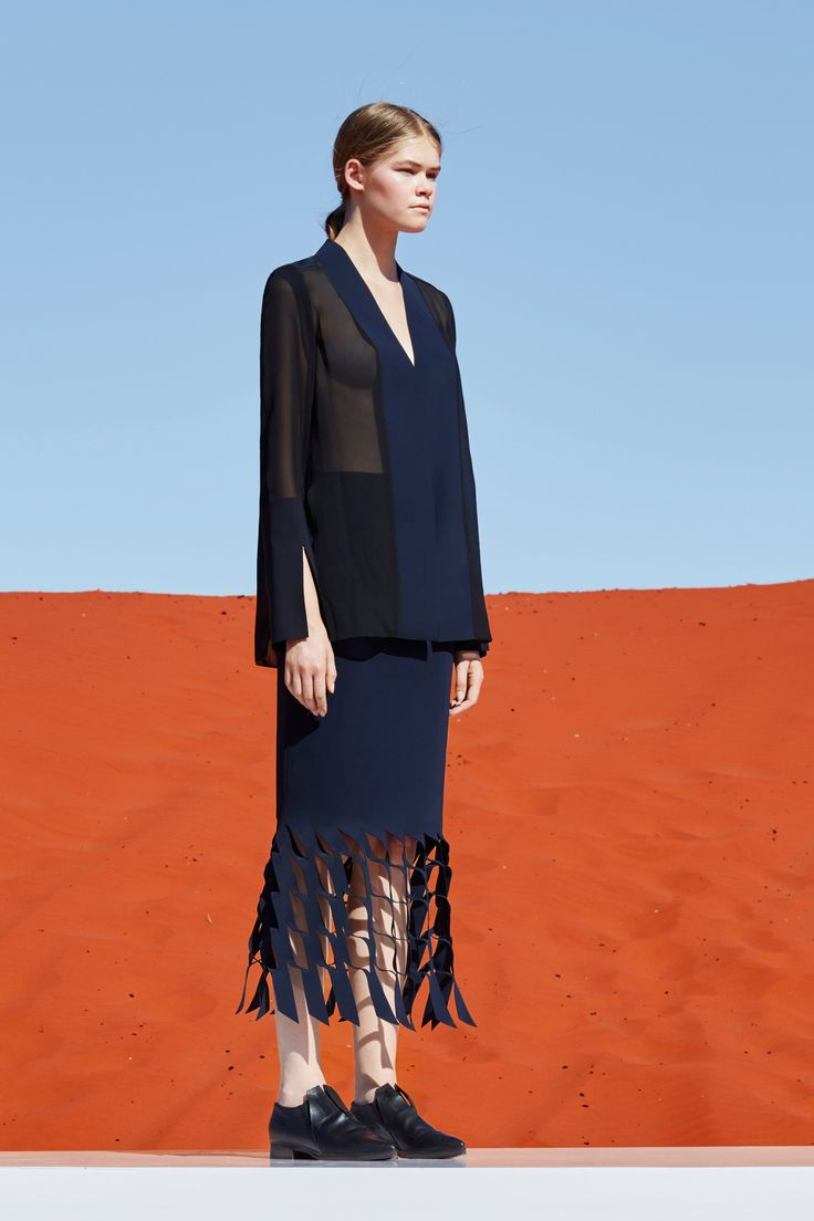 Dion lee pre fall 2016 fashion show for California fashion designers directory
