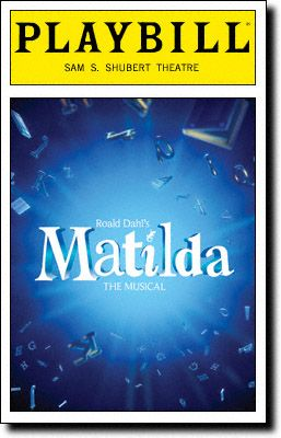 Matilda The Musical Playbill Covers on Broadway - Information, Cast, Crew, Synopsis and Photos - Playbill Vault