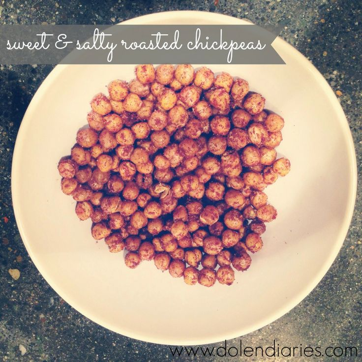 sweet & salty roasted chickpeas | Dolen Diaries | Pinterest