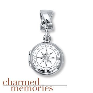 This Charmed Memories compass dangle will accompany you on any journey.