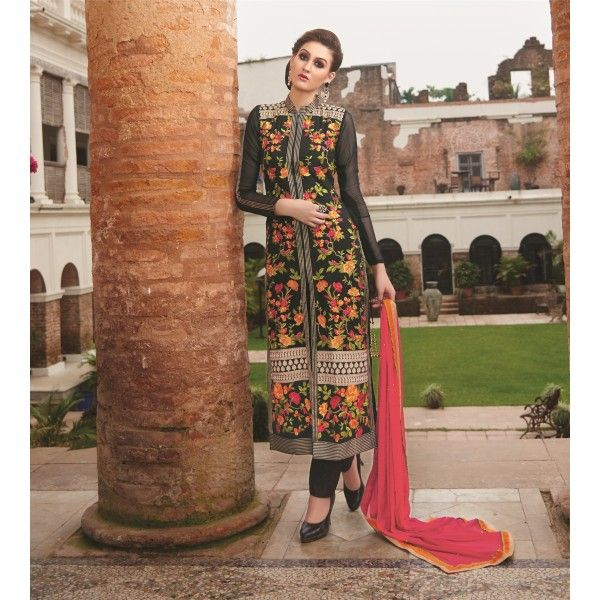 INDIAN RAG Pure Georgette Unstitched Dress Material