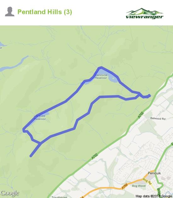 Walking trail map. Pentland Hills (3)