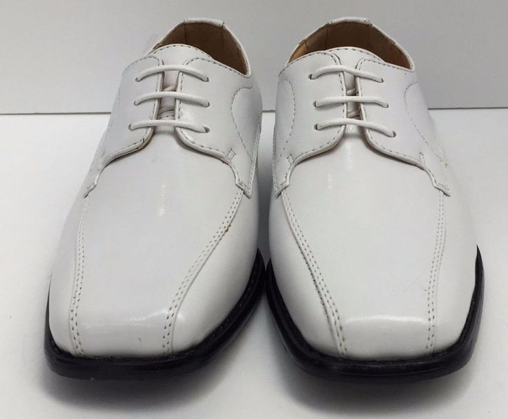 Boys Dress Shoes Miralto Youth White with Laces Sizes 1 - 13 K67WHT #Miralto #DressShoes