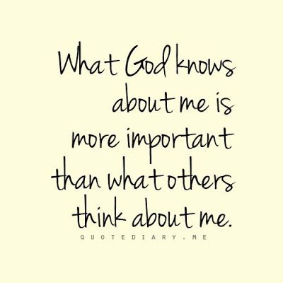 God is all I will EVER need. It doesn't matter if people don't like me, I'm not here to make people like me, but to praise God through everything.