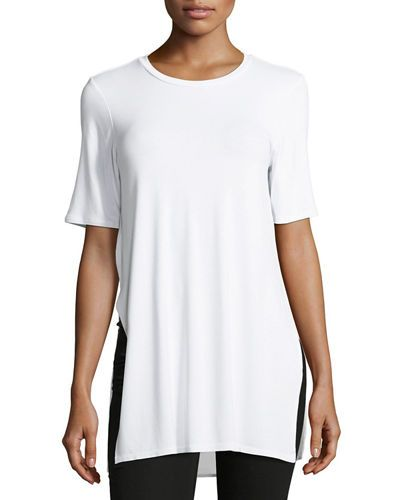BCBGENERATION LONG & LEAN SIDE-SLIT TUNIC TEE. #bcbgeneration #cloth #