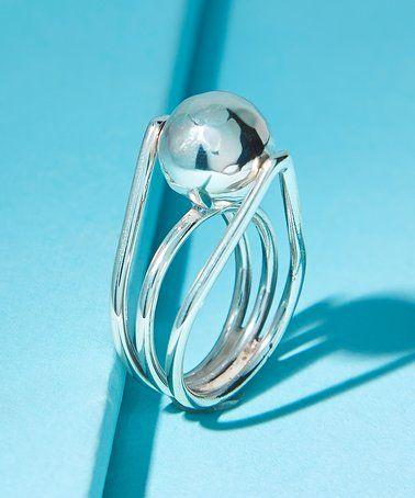 Look at this #zulilyfind! Sterling Silver Ball Ring #zulilyfinds