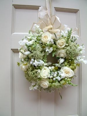 White Rose Door Wreath... for those extra Special Events.