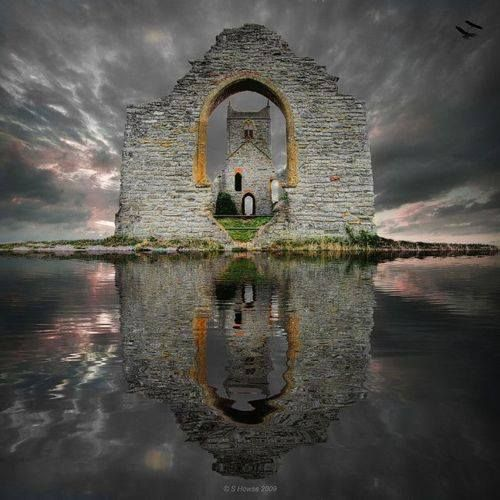To reflect on history.  Castle Ruins, Loc Ard, Scotland — with Gordon Martin.
