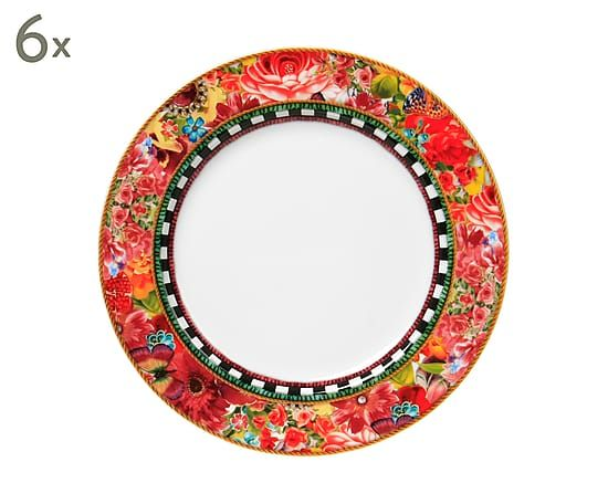Set de 6 platos de porcelana Eliza - Ø21 cm