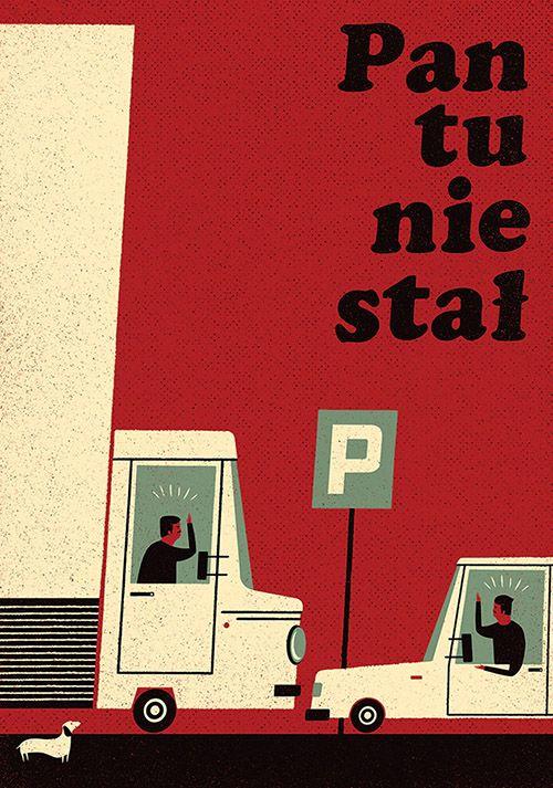 Pan tu nie stal by Dawid Ryski, Polish Poster