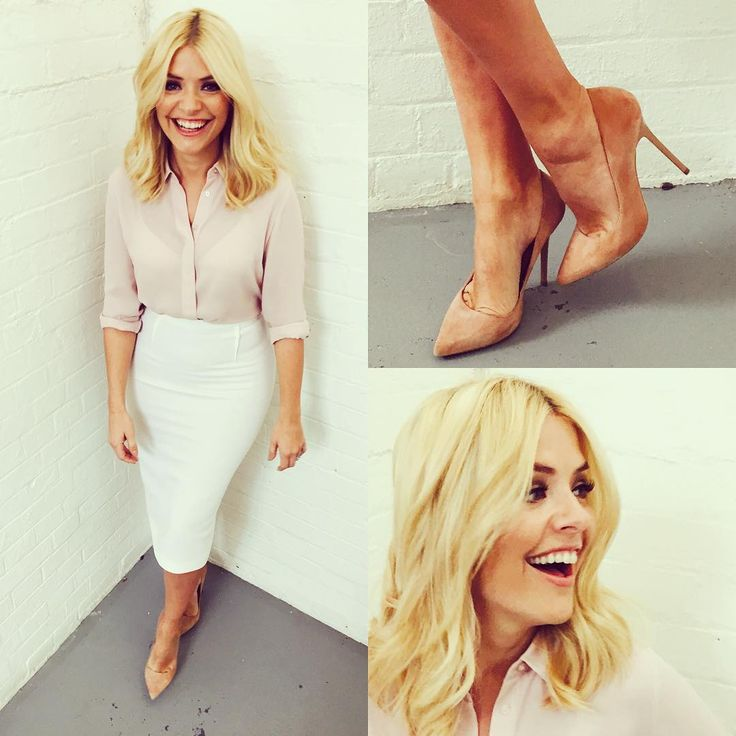 """""""Thursday's @itvthismorning and Spring has sprung, inspired by #trinnywoodall and her fashion item today! Shirt by #autograph @marksandspencer  shoes by…"""""""
