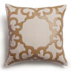Emporium Home Arabesque Pillow, Tan