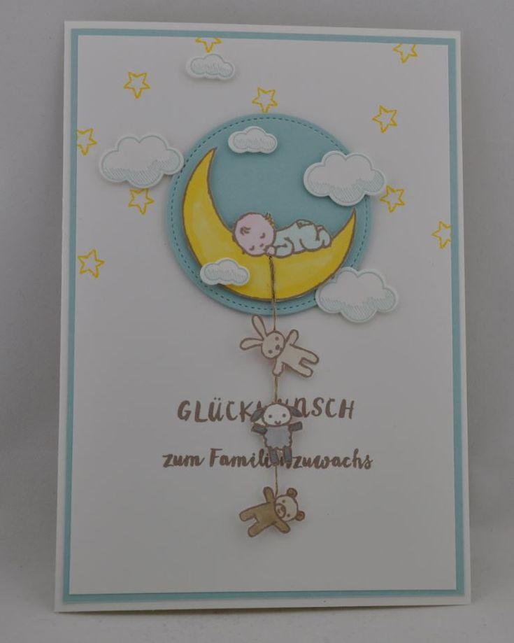 Babykarte mit dem Set Moon Baby