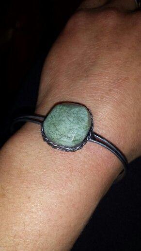Bracciale fatto a mano ..pietra naturale verde