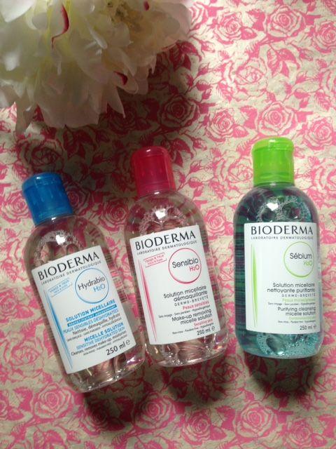 Bioderma's 3 micellar waters for 3 different skin types: Sensiobio, Hydrabio, Sebium neversaydiebeauty.com @redAllison
