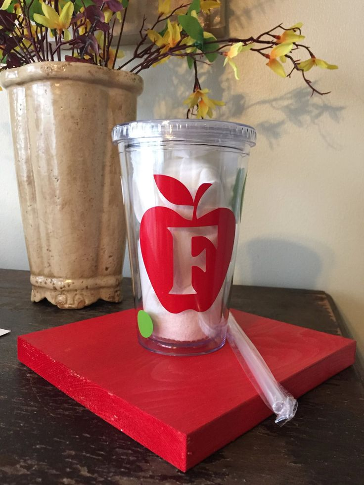 16 oz Acrylic Tumbler: Monogrammed Teacher's Cup - Personalized Teacher's Tumbler - Teacher's Acrylic Tumbler by SweetPMonograms on Etsy