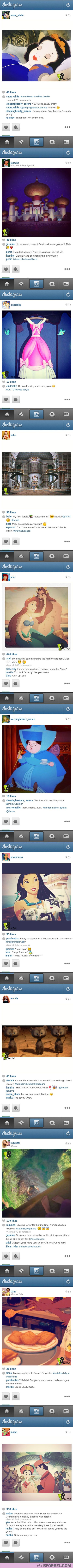 If Disney princesses had instagram... Laughed much harder than I should have! Dishonor on your cow!