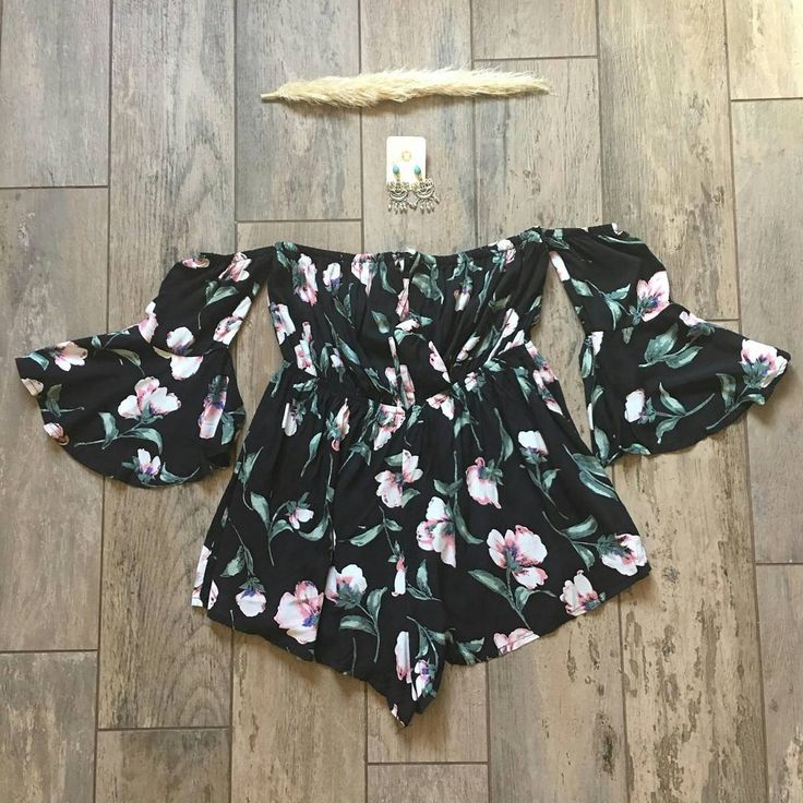 Our Audrey romper is a beautiful black floral off the shoulder romper. Very feminine and perfect for a romantic night out. Available for purchase at www.LavishBoutiq.com (Link in Bio)  #onlinestore #shoponline #onlineshopping #onlineboutique #brandymelville #followforfollow #likeforlike #pacsun #tillys #windsor #babe #teenstyle #teenblogger #highschool #California #californiagirl #romper #laurag_143 #dressyourface #anthropologie #mystyle #halloweenmakeup #halloweencostume…