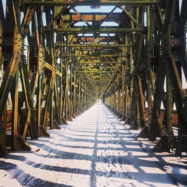 Visit #Tczew (50km from #Gdansk, 20km to Malbork) and see the most beautiful and the longest #bridge in this part of #Europe, built in 1857. #igersgdansk #pomorskie #pomorskietravel #poland #kociewie #vistula #river (w: Mosty Tczewskie)