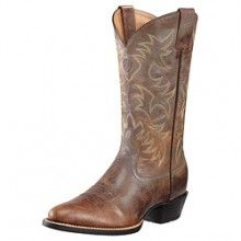 Men's Ariat Heritage R Toe Weathered Chestnut Cowboy Boot