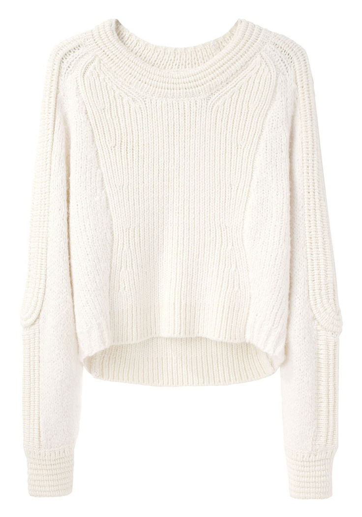 3.1 Phillip Lim / Cropped Body Mapped Pullover