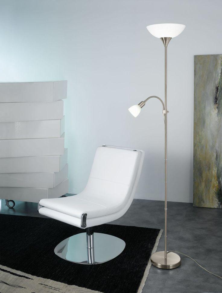 Eglo Lighting 93207 UP 5 Floor Lamp w.reading-lamp satin 'UP 5'