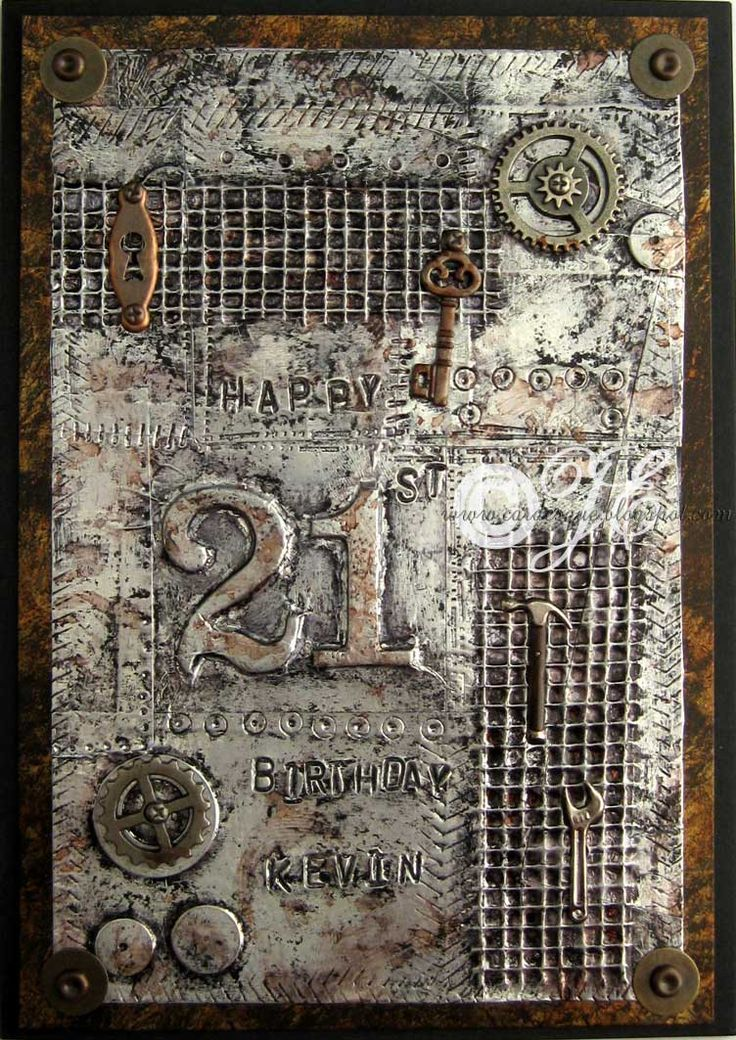 Steampunk or industrial birthday card | cardesque