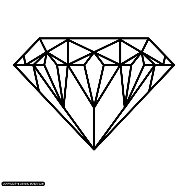 drawings of diamonds | Coloring pages various - free ...