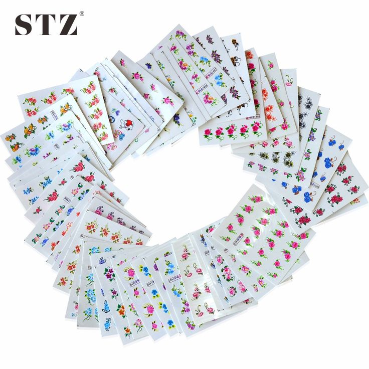 Aliexpress. Buy 50 Sheets Summer Nail Art Designs Water Transfer Wraps Nail Sticker New Flower DIY Tips #Nail #Decals Tools XF1151 1200 from Reliable nail decals suppliers on STZ Nail Art