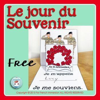 FREE Le jour du Souvenir - French Remembrance Day - Pop-up card