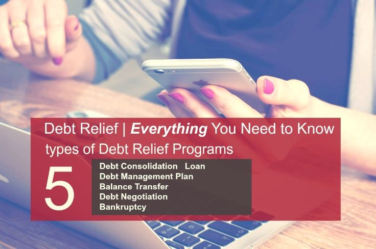 Need to Know. Types of Debt Relief Programs. Debt Consolidation, Debt