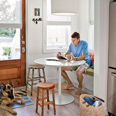 Pre Fab Coastal Cottage. Kitchen Table BenchKitchen NookKitchen IdeasKitchen  DesignsCorner ...