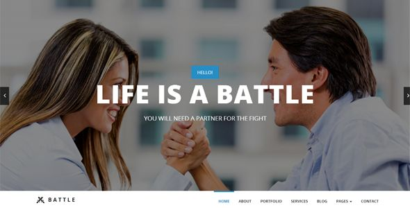 Check out Battle – HTML5 Responsive Template. Premium Bootstrap Template @bootstrapstage