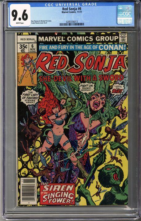 Red Sonja #6 CGC 9.6