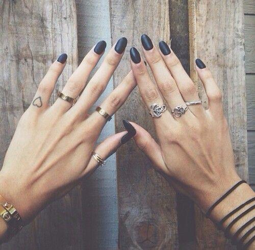matte black + multiple rings: